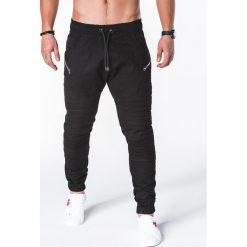 SPODNIE MĘSKIE JOGGERY P709 - CZARNE. Czarne joggery męskie Ombre Clothing. Za 79,00 zł.