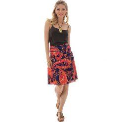 Odzież damska: Spódnica w kolorze pomarańczowo-granatowym