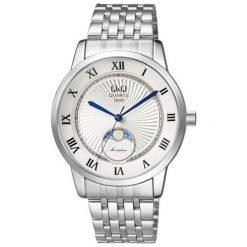 Zegarek Q&Q Męski z fazami księżyca Q&Q QZ10-207 srebrny. Szare zegarki męskie Q&Q, srebrne. Za 183,00 zł.