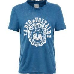 T-shirty męskie: Zadig & Voltaire OSLO BLASON Tshirt z nadrukiem petrole