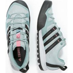 Adidas Performance TERREX SOLO  Buty wspinaczkowe vapour steel/core black/tactile pink. Zielone buty trekkingowe męskie adidas Performance. W wyprzedaży za 219,60 zł.