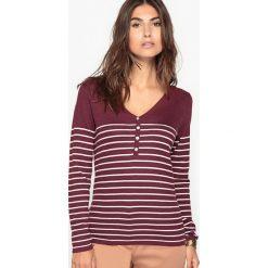 Kardigany damskie: Sweter w marynarskim stylu, z barwionej włóczki, 10% wełny