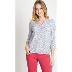 Bluzki damskie: Jasna bluzka z orientalnym motywem QUIOSQUE