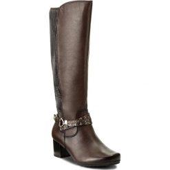Kozaki CAPRICE - 9-25615-29 Dk Brown Comb 329. Brązowe buty zimowe damskie Caprice, ze skóry ekologicznej, na obcasie. W wyprzedaży za 359,00 zł.