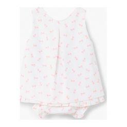 Mango Kids - Sukienka dziecięca + majtki Cameli 62-80 cm. Białe bielizna dziewczęca marki Mango Kids, z bawełny, casualowe. Za 89,90 zł.