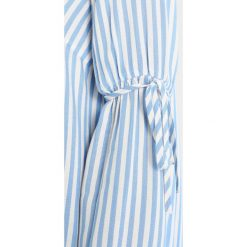 Bluzki asymetryczne: TOM TAILOR DENIM STRIPED TRUMPET SLEEVE BLOUSE Bluzka laguna light blue