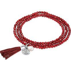 Bransoletki damskie: Bransoletka w kolorze czerwonym z zawieszką