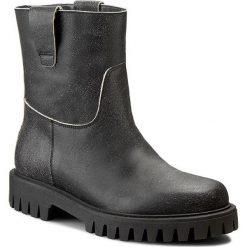 Botki POLLINI - SA21113G00TJ0000  Nero. Czarne buty zimowe damskie Pollini, ze skóry, za kostkę. W wyprzedaży za 849,00 zł.