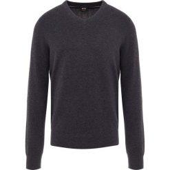 BOSS CASUAL ALBONOP Sweter dark grey. Szare swetry klasyczne męskie BOSS Casual, m, z bawełny. Za 499,00 zł.