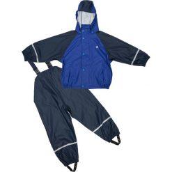 Spodnie niemowlęce: 2-częściowy zestaw przeciwdeszczowy w kolorze granatowo-niebieskim