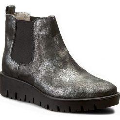 Sztyblety NESSI - 704/N Srebro 82. Czarne buty zimowe damskie marki Nessi, z materiału, na obcasie. W wyprzedaży za 229,00 zł.