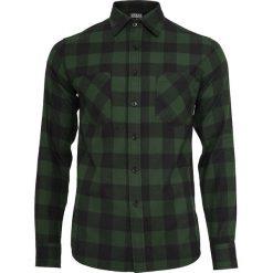 Urban Classics Checked Flannel Shirt Koszula czarny/ciemnozielony. Białe koszule męskie na spinki marki bonprix, z klasycznym kołnierzykiem, z długim rękawem. Za 121,90 zł.