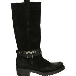 Kozaki - D68 CRO NERO. Czarne buty zimowe damskie marki Venezia, ze skóry. Za 419,00 zł.