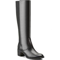 Kozaki GINO ROSSI - Tesa DKG547-G50-3V00-9900-F 99. Czarne buty zimowe damskie marki Gino Rossi, z materiału, na obcasie. W wyprzedaży za 369,00 zł.