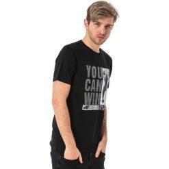 4f Koszulka męska H4L18-TSM017 czarna r. S. Czarne koszulki sportowe męskie marki 4f, l. Za 49,99 zł.