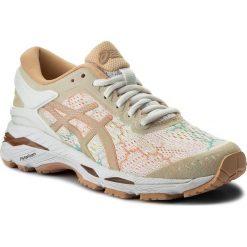 Buty ASICS - Gel-Kayano 24 Lite-Show T8A9N White/White/Apricot Ice 0101. Brązowe buty do biegania damskie Asics, z materiału, asics gel kayano. W wyprzedaży za 519,00 zł.