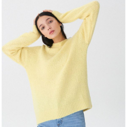 Sweter z wełną - Żółty. Żółte swetry klasyczne damskie House, l, z wełny. Za 119,99 zł.