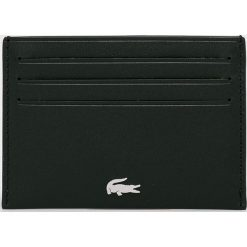 Lacoste - Portfel skórzany. Czarne portfele męskie Lacoste, z materiału. W wyprzedaży za 179,90 zł.