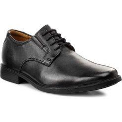 Półbuty CLARKS - Tilden Plain 261103507 Black Leather. Czarne półbuty skórzane męskie Clarks. W wyprzedaży za 229,00 zł.