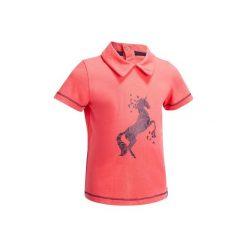 Bluzki dziewczęce: Koszulka polo PL100 baby róż