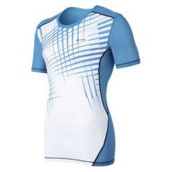 Odlo Koszulka męska Cubic trend biało-niebieska r. L (140762). Białe t-shirty męskie marki Odlo, l. Za 120,04 zł.