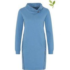 """Sukienki hiszpanki: Sukienka """"Maitagorry"""" w kolorze niebieskim"""