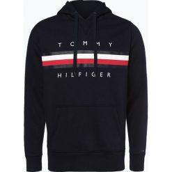 Tommy Hilfiger - Męska bluza nierozpinana, niebieski. Szare bluzy męskie rozpinane marki TOMMY HILFIGER, z bawełny. Za 449,95 zł.