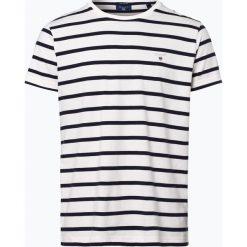 Gant - T-shirt męski, czarny. Czarne t-shirty męskie GANT, m, w paski, z bawełny. Za 129,95 zł.