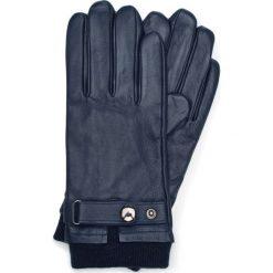 Rękawiczki męskie 39-6-704-GC. Niebieskie rękawiczki męskie Wittchen, w paski. Za 149,00 zł.
