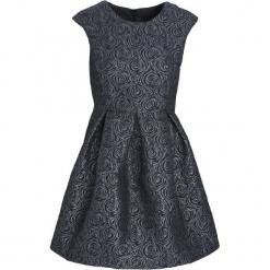 Granatowa Sukienka Loquacious. Szare sukienki mini marki Born2be, l, z okrągłym kołnierzem, bez rękawów, oversize. Za 49,99 zł.