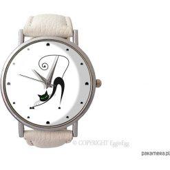 Zegarek z dużą tarczką Zakręcony kot - 0878. Szare zegarki damskie Pakamera. Za 120,00 zł.
