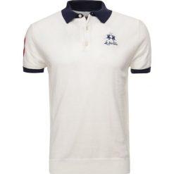 La Martina MAN SWATER Koszulka polo off white. Białe koszulki polo La Martina, l, z bawełny. W wyprzedaży za 501,75 zł.