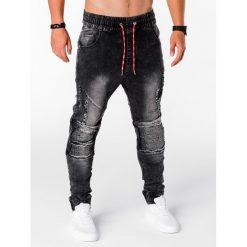 SPODNIE MĘSKIE JOGGERY P676 - CZARNE. Czarne joggery męskie Ombre Clothing, z bawełny. Za 89,00 zł.