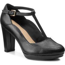 Creepersy damskie: Półbuty CLARKS - Kendra Daisy 261267994 Black Leather
