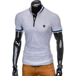 KOSZULKA MĘSKA POLO BEZ NADRUKU S916 - SZARA. Szare koszulki polo Ombre Clothing, m, z nadrukiem. Za 45,00 zł.