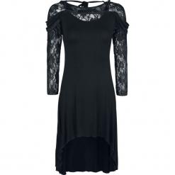 Gothicana by EMP Coatlicue Sukienka czarny. Czarne długie sukienki marki Gothicana by EMP, xl, w koronkowe wzory, z koronki, z dekoltem na plecach, z długim rękawem. Za 99,90 zł.