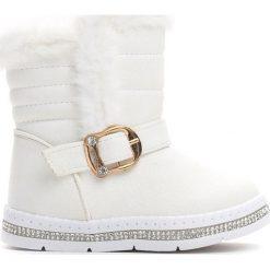 Kozaki dziewczęce: Białe Śniegowce Habituate