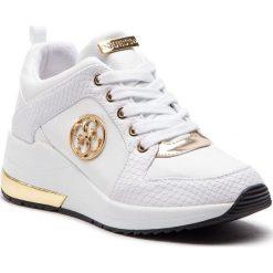 Sneakersy GUESS - FL5JA2 LEA12 WHITE. Białe sneakersy damskie marki Guess, z materiału. Za 629,00 zł.