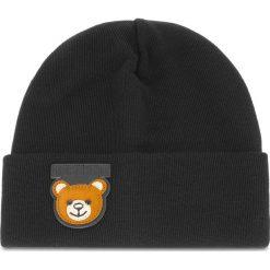 Czapka MOSCHINO - 65110 M1852 016. Czarne czapki zimowe damskie MOSCHINO, z materiału. Za 559,00 zł.