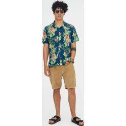 Koszule męskie: Koszula z krótkim rękawem w kwiaty