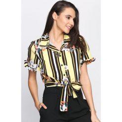Żółta Koszula Good Direction. Żółte koszule damskie Born2be, na lato, l. Za 74,99 zł.