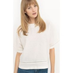 Bluzki asymetryczne: Bluzka ażurowa, len