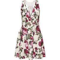 Sukienki: Sukienka w kwiaty bonprix kremowo-czerwony w kwiaty