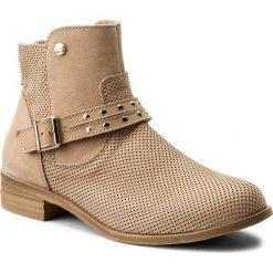 Botki LASOCKI - 70409-09 Beżowy. Brązowe buty zimowe damskie Lasocki, z nubiku. W wyprzedaży za 199,99 zł.