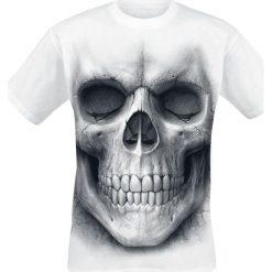 T-shirty męskie: Spiral Solemn Skull T-Shirt biały