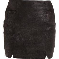 Minispódniczki: See u Soon PU MINI SKIRT Spódnica mini black