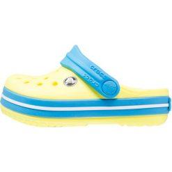 Crocs CROCBAND  Sandały kąpielowe tennis ball green/ocean. Zielone sandały chłopięce marki Crocs, z gumy. Za 139,00 zł.