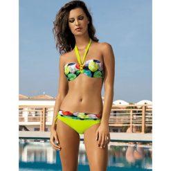 Stroje kąpielowe damskie: Bikini w kolorze pistacjowym ze wzorem
