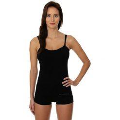 Bluzki asymetryczne: Brubeck Koszulka damska Camisole COMFORT COTTON czarna r. M (CM00210A)