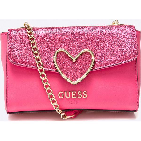 a8352f6515953 Guess Jeans - Torebka dziecięca - Różowe torebki klasyczne damskie ...